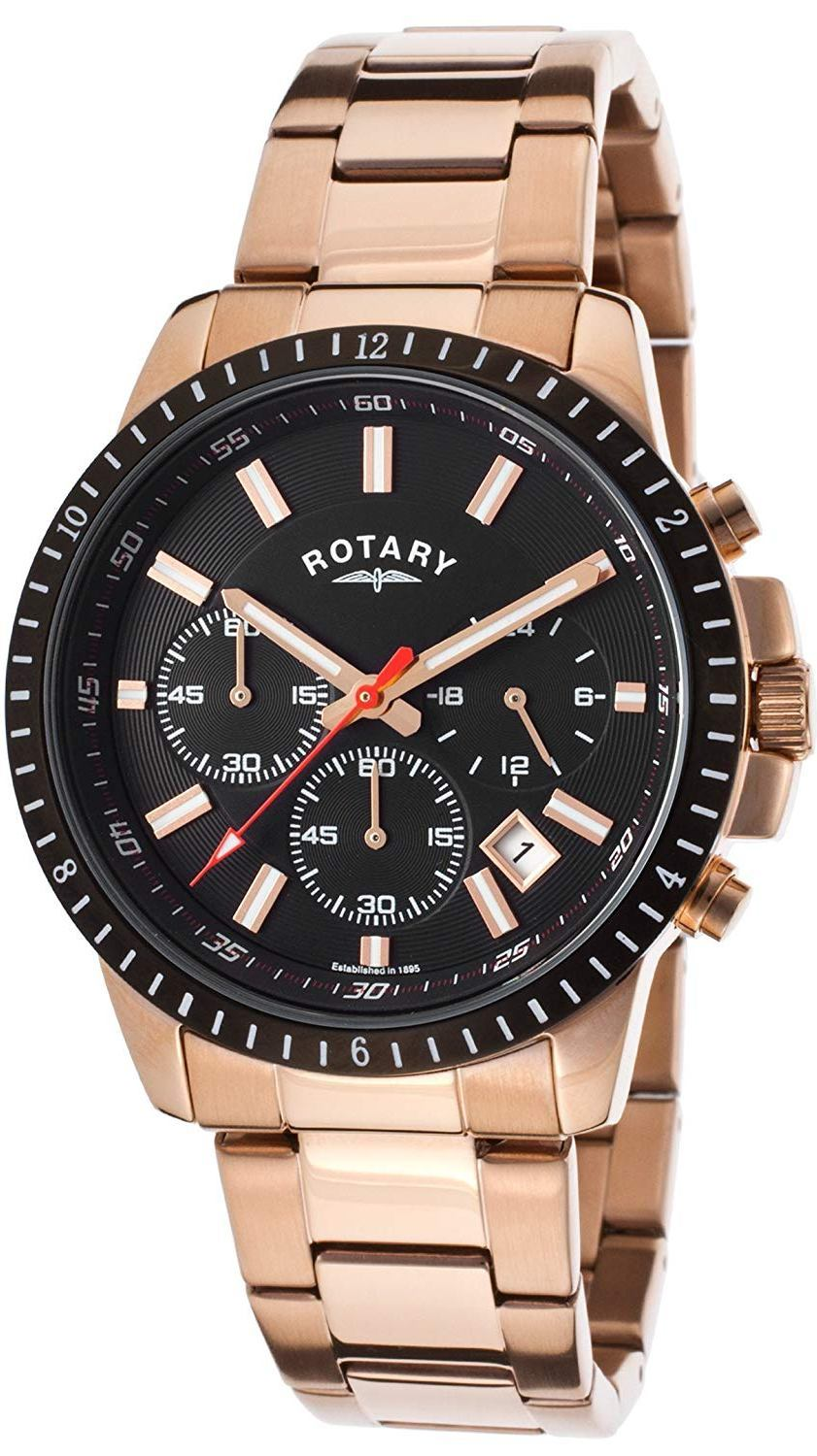 ROTARY Rose Gold Stainless Steel Mens Watch