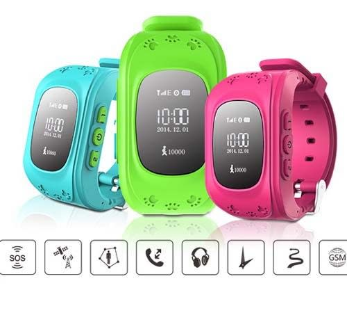 Q50 GPS Tracking Smartwatch For Kiddies 3 Colours
