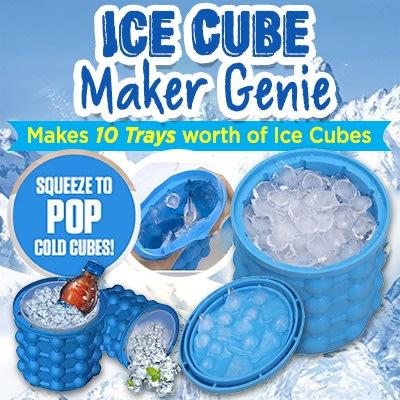 The Revolutionary Space Saving Magic Ice Cube Maker Genie