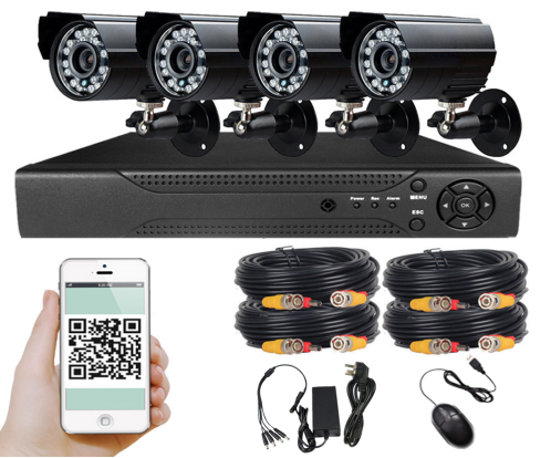 4 Channel AHD CCTV KIT With Phone Viewing