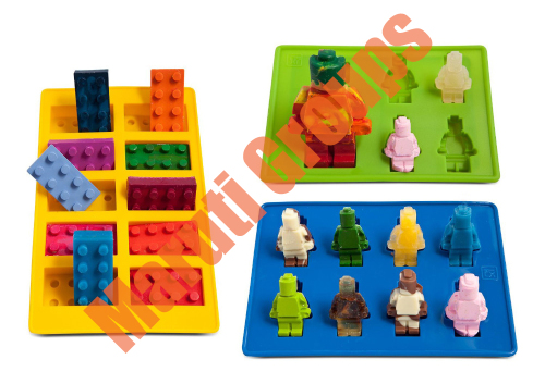 Silicone fondant Lego mould Man - Set of 3