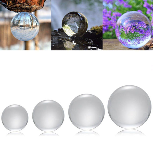 50/100/120/150mm K9 Crystal Photography Lens Ball Photo Prop Background Decor Christmas Gifts