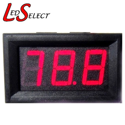Voltmeter Digital Red 3 Digit 4.5-30V DC **LOCAL STOCK**