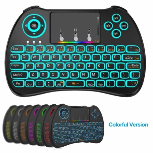 LOCAL Wireless Mini Keyboard RGB + Air Mouse Combos Remote Control For Android Tv Box
