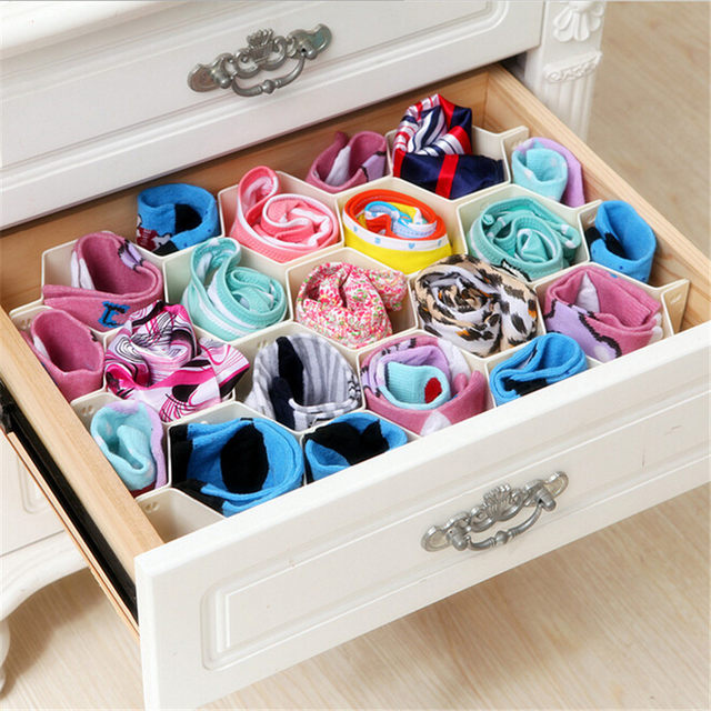 8 Piece Drawer Organizer Divider Tidy Box/Pink color only
