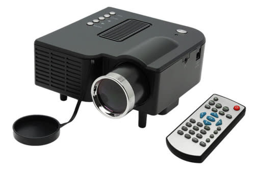 Mini LED Projector with LCD Image System HDMI LED projector/Support computer TV USB SD