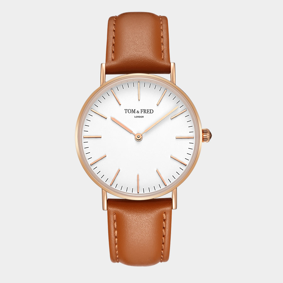 Retail: R2999.00 TOM & FRED LONDON Women's British Darby Camel Tan Leather Watch