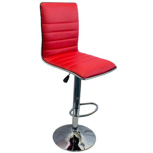 Barstool L- Shape Stripe - Red
