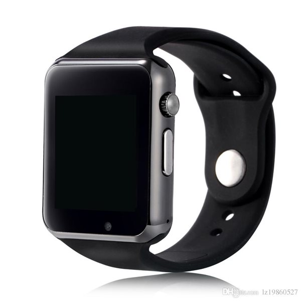 W8 Android Bluetooth Smart Watch Phone + Camera + SIM Card Slot Black