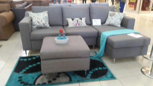 L Shape Lounge Suite With Ottoman