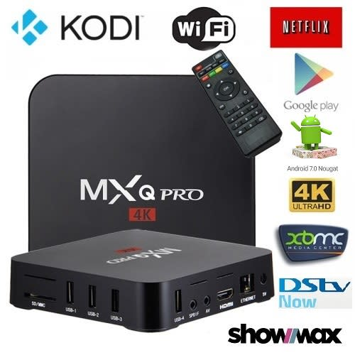 MXQ PRO Android TV Box, Android 7.1 KODI 18, Supports DSTV NOW & SHOWMAX. ONE MONTH FREE IPTV