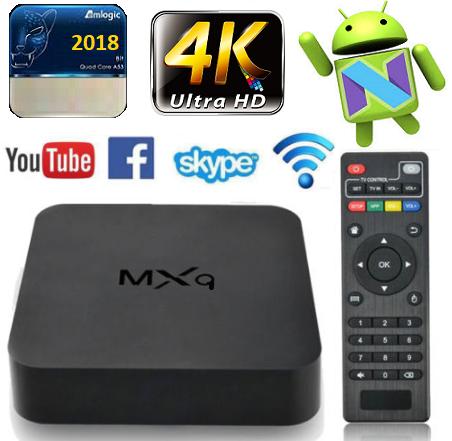 **New 2019** 4K Multimedia TV, PC Box. Android 7.1, Quad-Core WiFi, HDMI, 4 x USB, SD