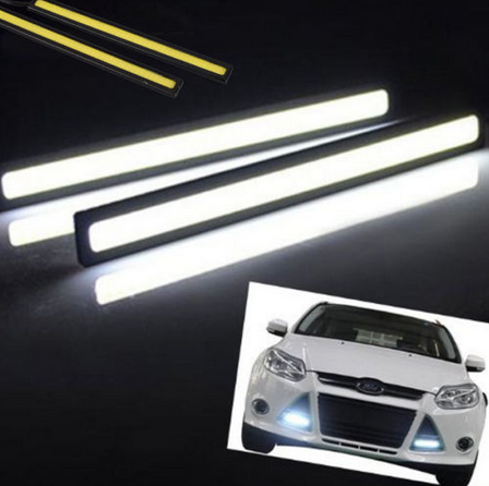 2 x LED Daytime Running Lights. Super Bright 6500k White.