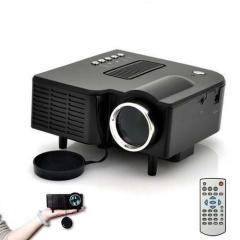 HD 1080P LED Multimedia Projector - AV TV VGA HDMI USB SD WTC Compatible: 400Lumen