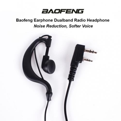 2 PIN HEADSET PTT WITH MICROPHONE EAR HOOK INTERPHONE EARPHONE EARPIECE FOR Kenwood / BaoFeng / ETC