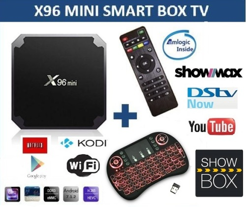 DSTV NOW , X96 mini , Android TV box, WiFi , KODI Android 7.1 with Backlit Keyboard remote, Showmax