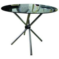 4 Seater Cafe Table - Glass Top Round