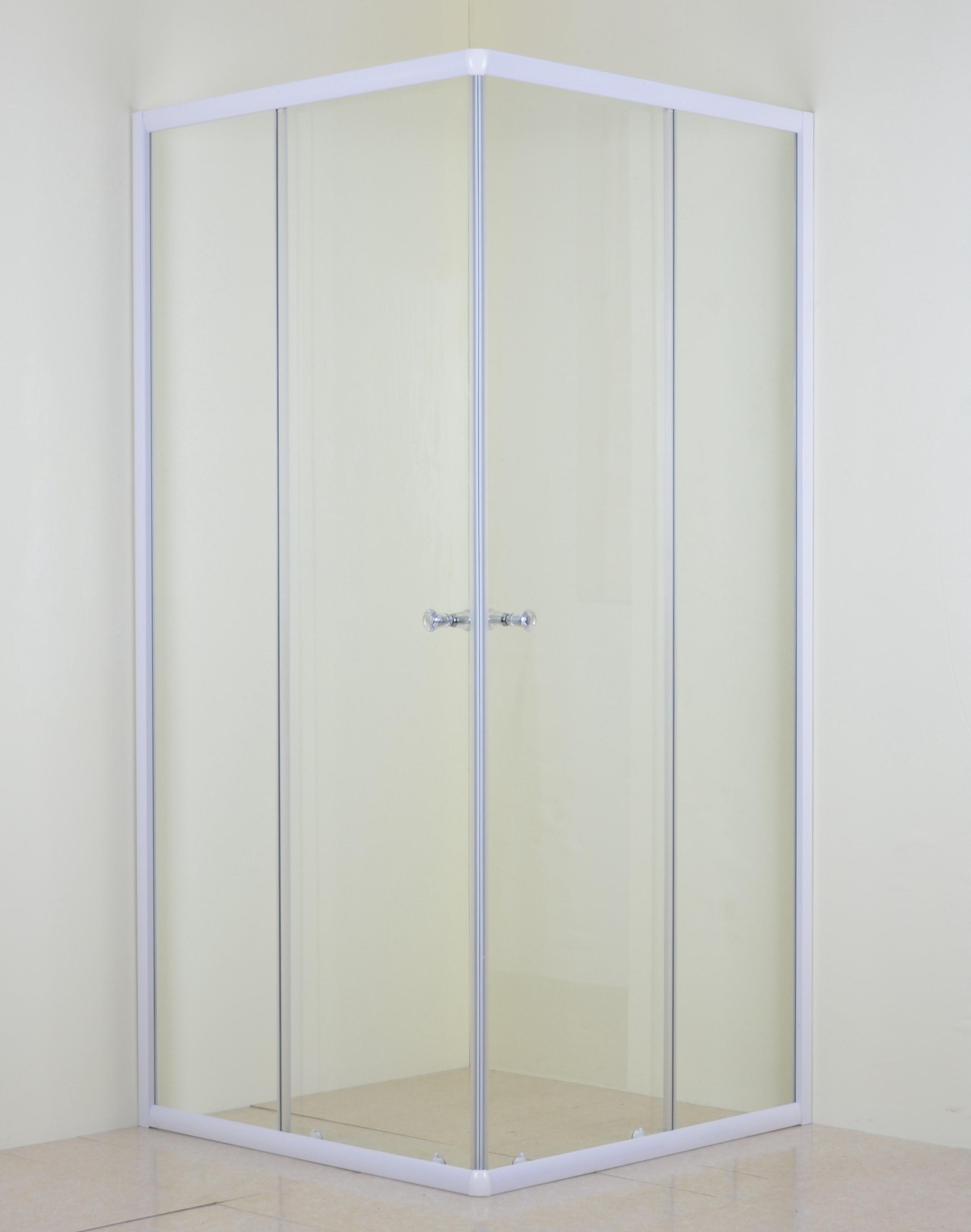 White Corner Entry Shower Enclosure - 36kg