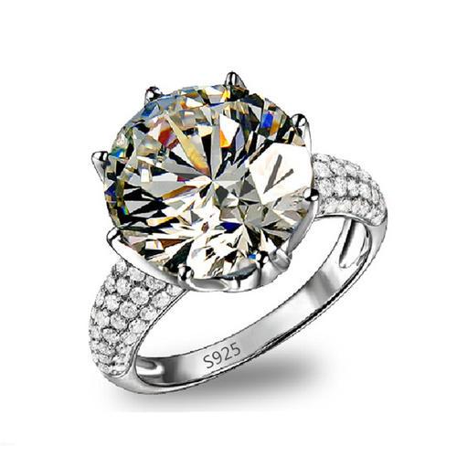 MDEAN BIG CZ DIAMOND JEWELRY WHITE GOLD FILLED RINGS LUXURY ENGAGEMENT WEDDING BAGUE FOR WOMEN BIJOU