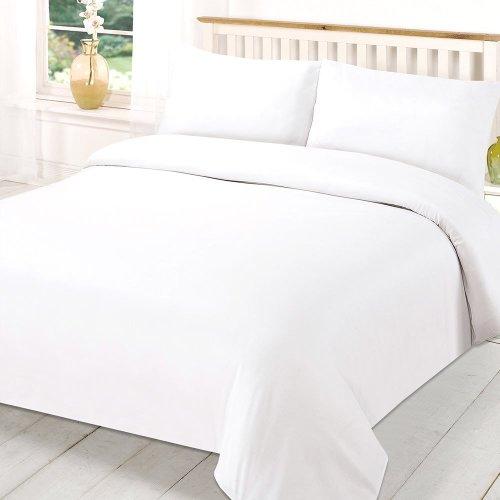 Plain White Cotton Duvet Cover Set + Inner