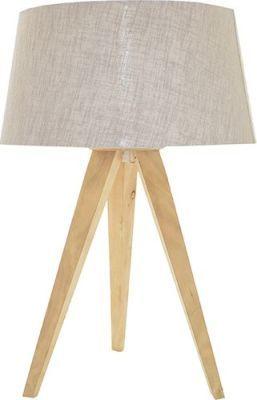 Fundi Lighting Tripod Table Lamp (Greystone)