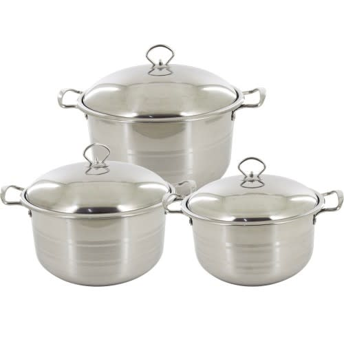 Stainless Steel Cookware Set 6 Piece