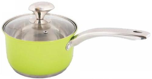 WELLBERG 1.9L Stainless Steel Saucepan - Green