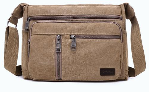 Vintage Canvas Crossbody / Shoulder Messenger Bag - 3 colours