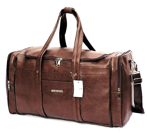 Vintage Pu Leather Duffel Bag