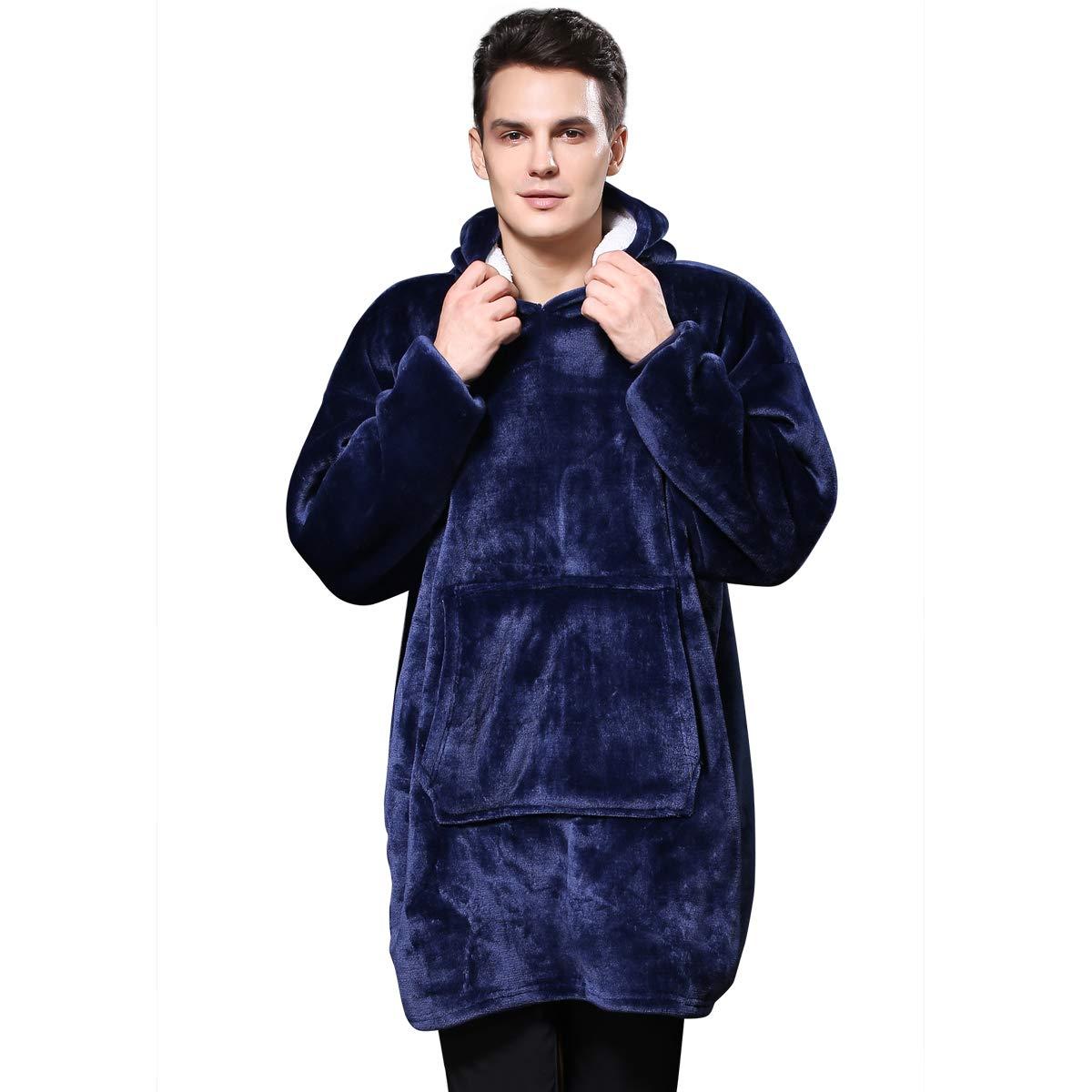 Lazy Huggle Hoodie Wearable Blanket