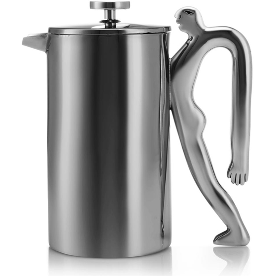Carrol Boyes Stainless Steel Coffee Plunger Full Of Beans