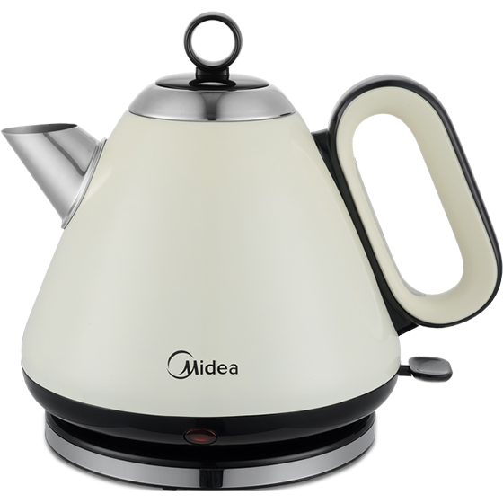 Midea Stainless Steel Dome Kettle 1.7 Litre Creme
