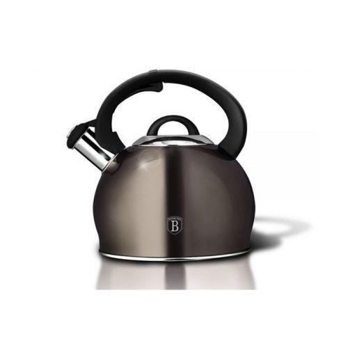 Berlinger Haus 3L Stainless Steel Whistling Kettle - Carbon Metallic