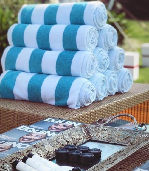 Glodina Luxury Pool Stripe Towel