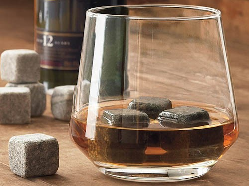 Skip the ice, Serve your drinks on the rocks! Whiskey Stones with a set of Whiskey Glasses for only R219!