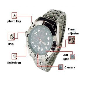 4GB Mini DV DVR Camera Video Recorder Spy Silver Wrist Watch