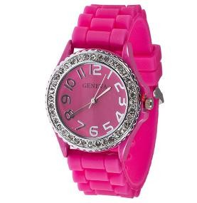 Get 2 Sleek and Oh So Glamorous Rhinestone Embellished Silicone Watches, available in 8 different colours for just R249!