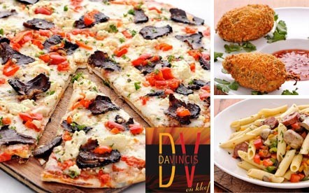 Lunch or Dinner for 2 people at the famous Da Vinci's on Kloof Street. 2 Chilli Poppers and your choice of any 2 Mains off Da Vinci's Pizza and Pasta Menu for only R99.