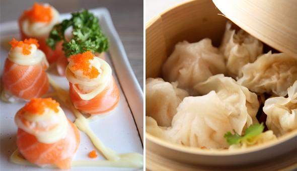 Assorted Dim-sum and Gourmet Sushi at Sakura Sushi!