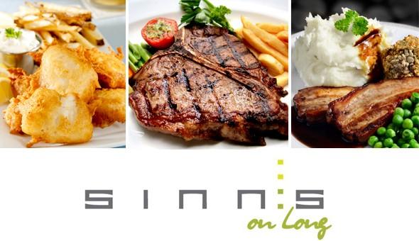 T-Bone Steaks, Gourmet Burgers, Roast Pork Belly, Butter Chicken and more at Sinns on Long!
