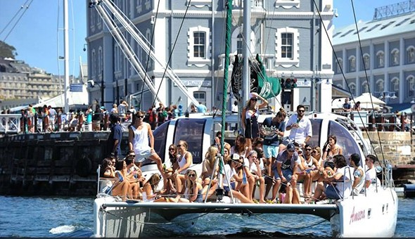 A 90 Minute Ocean Cruise aboard the awe-inspiring Tigresse or Ameera Catamaran, V&A Waterfront!