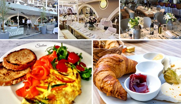 Selection of Gourmet Breakfasts for 2 People at Seelan Restaurant, V&A Waterfront – Smoked Salmon, Omelettes, Croissants, Fresh Fruits & More!