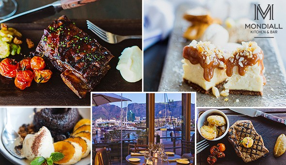 Executive Chef, Riaan Burger, invites you to indulge in an exclusive 2-Course Dining Experience for 2 People at Mondiall Kitchen & Bar, V&A Waterfront!