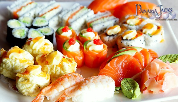 Indulge in 30 Pieces of Cape Town's finest Sushi for 2 People at the legendary Panama Jacks!
