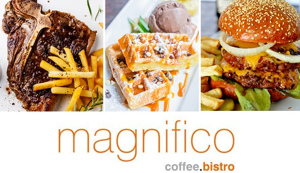 500g Steaks, Monster Burgers, American Waffles & More for up to 4 People at Magnifico Bistro, Willowbridge!