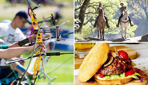 The Ultimate Fun Adventure for 2 People: Archery Experience, Scenic Horse-Trail Experience, plus Wine, Cooldrinks and Traditional Farm-Style Burgers!