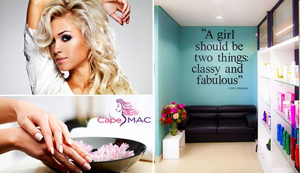 A Full Manicure or Full Pedicure with French, a Wash, Cut and Blow & More at CapeMAC, Panaroma