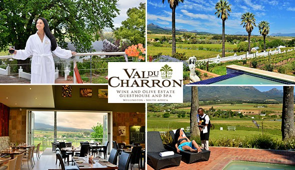 The Perfect Spoil! Escape to the luxurious Val du Charron Wine & Olive Estate for a Romantic 2 Night Stay for 2, including Breakfast, a Lunch or Dinner Spend Voucher at The Local Grill, an Exclusive Wine Tasting Experience, Cellar Tour & More!