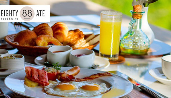 Breakfast Buffet and Bottomless Juice for 2 People at Eighty Ate Restaurant, located in the luxury Cape Town Hollow Boutique Hotel!