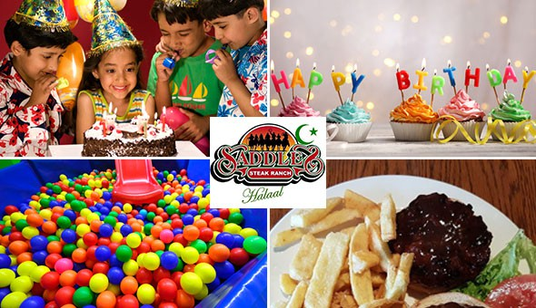 Halaal: Kiddies Birthday Parties for up to 10 Kids at Saddles Steak Ranch, Bellville! Includes: Kiddies Meals, Drinks, Cup Cake Desserts & Playtime!